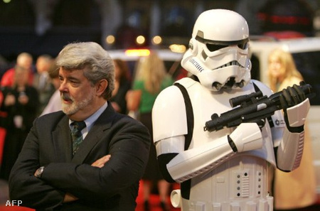 George Lucas a Sith-ek bosszúja londoni premierjén