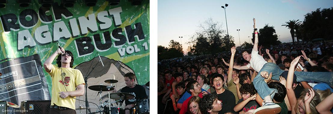 A Zero Authority zenekar bulija 2004-es Rock Against Bush koncerten