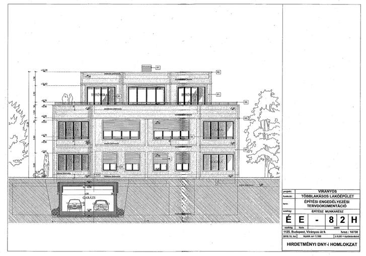 Így néznének ki a házat a virányosi lakóparkban az engedélyeztetési eljárásban beadott tervek szerint