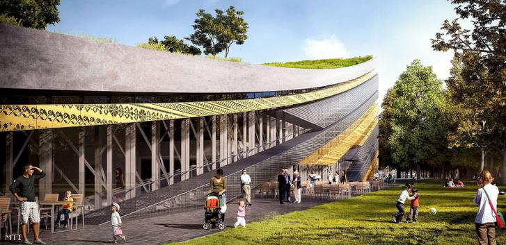 A Liget Projekt keretében épülő Néprajzi Múzeum terve Budapesten