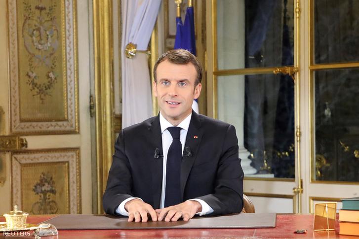 Emmanuel Macron 2018. december 10-én.
