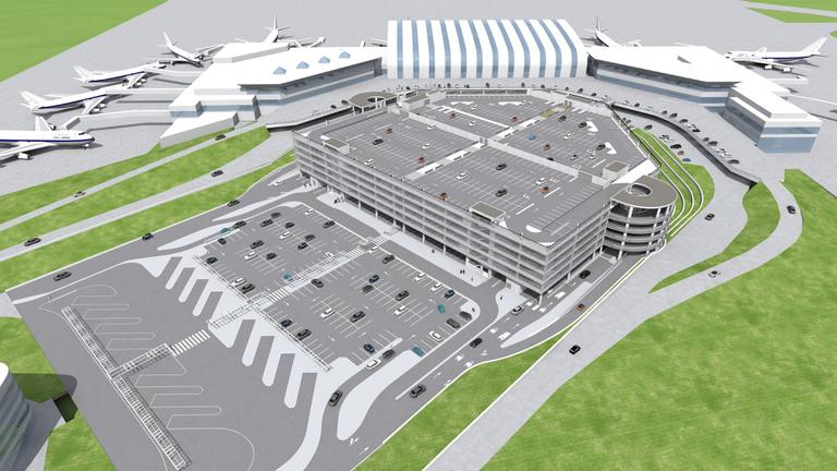 Elmeszelték a hatszintes ferihegyi parkolóház tervét