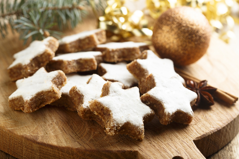 Karácsonyi fahéjas csillagok eredeti német recept szerint