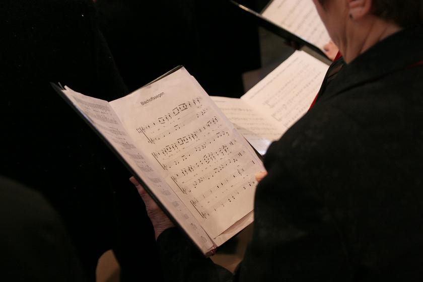 karácsony éneklés kotta templom