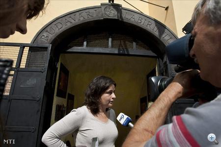Salasovics Andrea, a labirintust működtető cég ügyvezetője