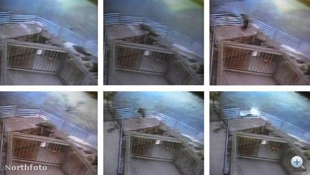 A biztonsági kamera ennyit rögzített az esetből