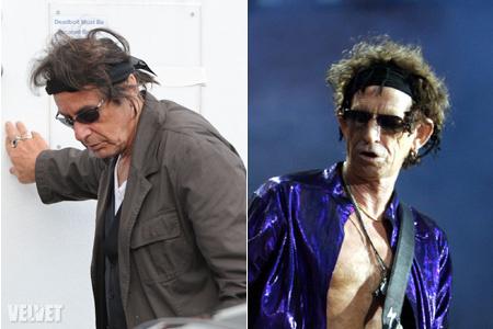 Al Pacino és Keith Richards