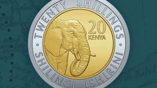 Kenya az elnökök helyett állatokat nyom a pénzérmékre
