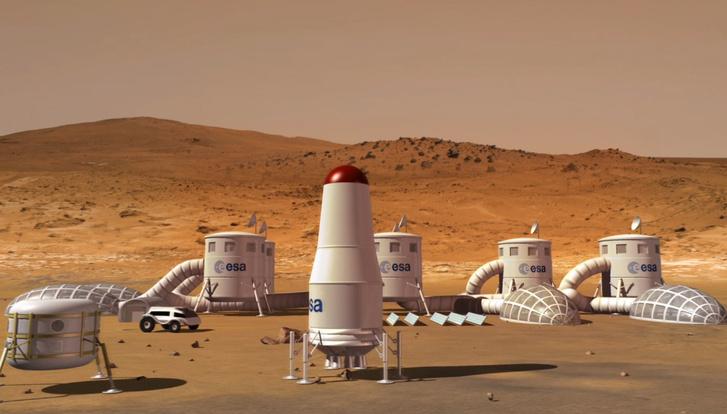 Mars bázis koncepció, amelynek újszerű élet támogató rendszert kell fejleszteni