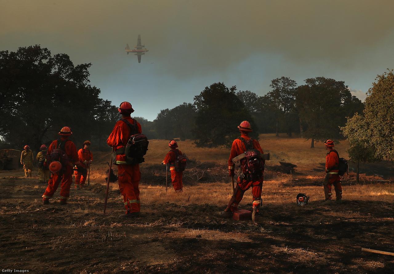 Tűzoltóként dolgozó rabok Kaliforniában, ahol 2018-ban több erdő- és bozóttűz is pusztított. Novemberben több mint két hét alatt sikerült csak megfékezni Kalifornia történetének legpusztítóbb tűzvészét, amiben 88 ember halt meg, 249-en pedig eltűntek. A legnépesebb amerikai tagállam északi részén 14 ezer lakóépület és több mint 5000 további épület dőlt romba, vagy égett le teljesen. Los Angeles környékén is tűzek pusztítottak. Földcsuszamlások, és áradások is nehezítették a helyzetet.                         Júliusban Görögországban pusztítottak erdő- és bozóttüzek, amiknek száz áldozata volt, közel kétszázan megsérültek. Több mint ezer épület megsemmisült, vagy megrongálódott. A hatóságok szerint illegálisan felhúzott épületek is súlyosbíthatták a helyzetet Attika-régióban, ráadásul szándékos gyújtogatásra utaltak a jelek.