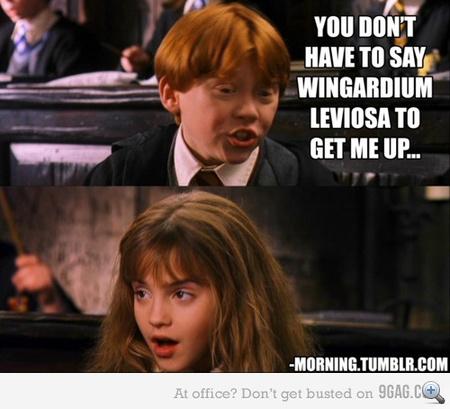 Nem kell azt mondanod, hogy vingardium leviosa ahhoz, hogy felálljon...