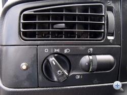 Első között volt a Golf hármasnak ez a forgatható lámpakapcsolója. Ma már szinte minden autónak ilyen van.