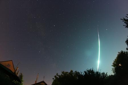 A pénteki meteor, színesben (fotó: Rosenberg Róbert)
