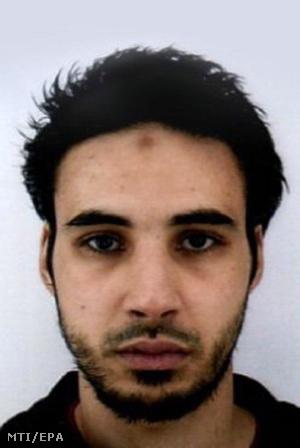 A francia rendőrség 2018. december 12-én közreadott felvétele a strasbourgi lövöldözés elkövetésével gyanúsított Cherif Chekattról.