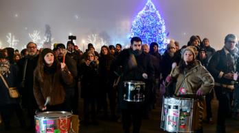 A túlóratörvény elleni tüntetés második menete (élő adás, 1. rész)