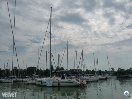 Balatonlelle kikötője