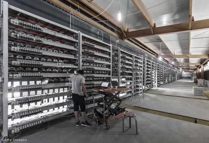 Bitcoin bányászat Kínában.