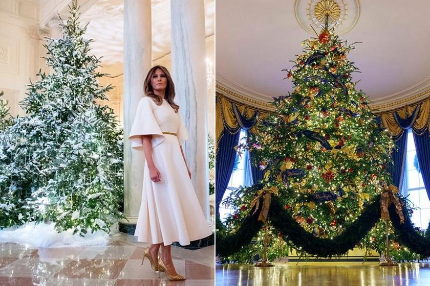 Az Egyesült Államok jelenlegi first ladyje, Melania Trump igazi téli varázsvilágot hozott össze tavaly és idén is.