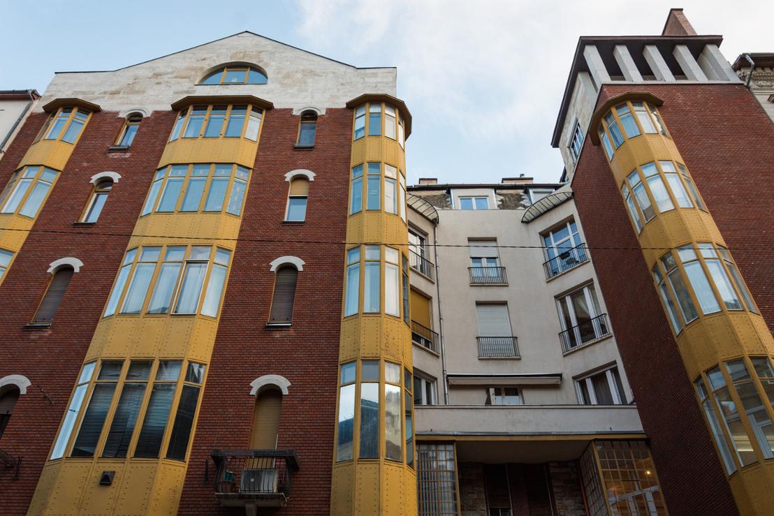 Haász Gyulával és Málnai Béla tervezte bérház az Eötvös u. 29. alatt