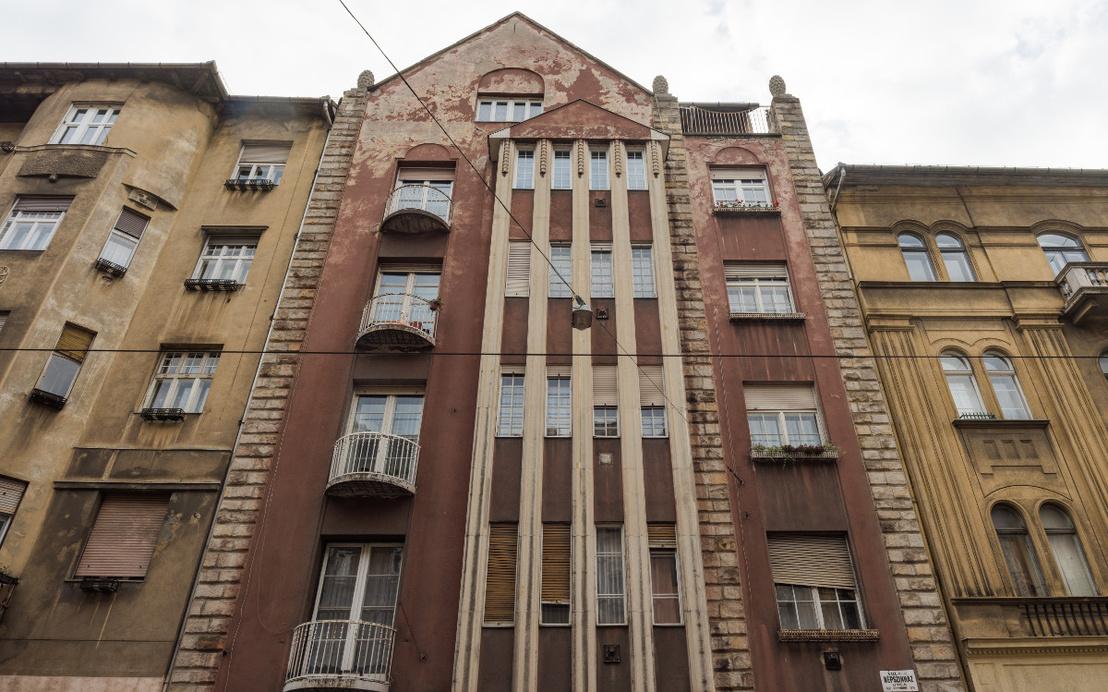 A Buchbinder-ház, Népszínház utca 35. (1911). Haász Gyulával és Málnai Béla közös alkotása