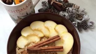 Fahéjas-mézes almás zabkása