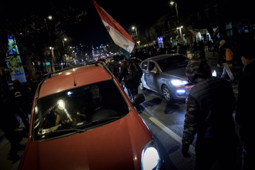 The protests caused wide-spread massive traffic jams, but drivers were patient and understanding.
