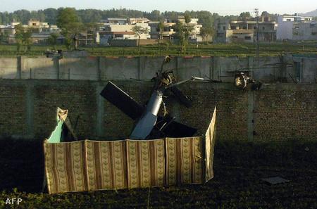 A lezuhant katonai helikopter