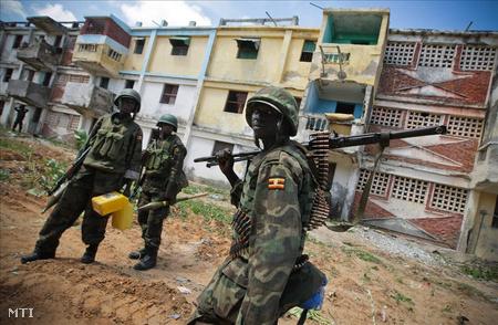 Az Afrikai Unió szomáliai békefenntartó erőinek (AMISOM) katonái