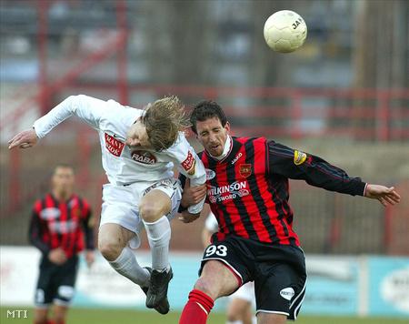 Hrutka János (Honvéd) 2003-ban egy Győri ETO elleni meccsen (Fotó: Bruzák Noémi)