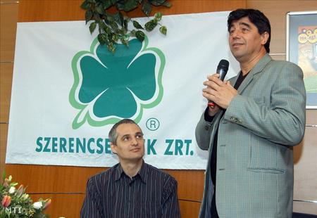 Telek András és Nemcsák Károly egy közös sajtótájékoztatón, 2008-ban (Fotó: Honéczy Barnabás)