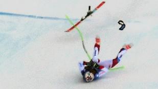 Nagy sebességnél bukott hatalmasat egy svájci síző