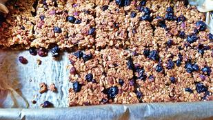 Gyümölcsös nasi: zabpelyhes müzliszelet házilag