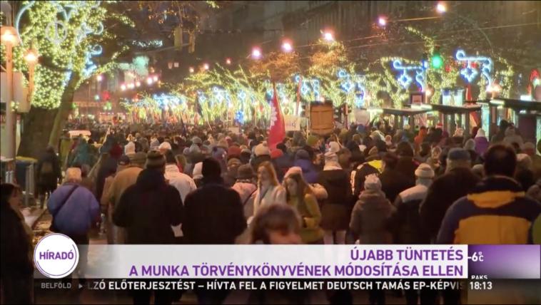 Meglepő fordulat, az M1-en is beszámoltak a tüntetésről