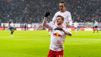 Négy góllal hangolt a Lipcse a Bayern elleni rangadóra