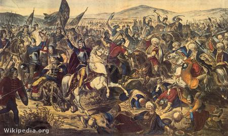 Adam Stefanović: Az 1389-es rigómezei csata. 1870.