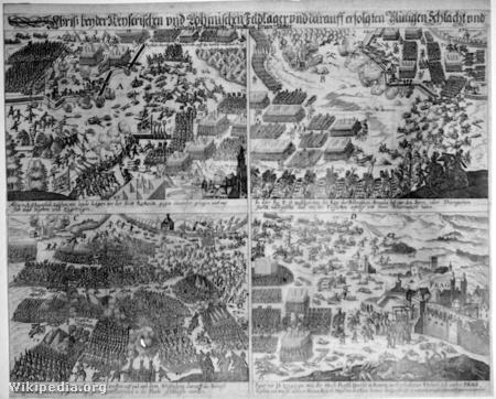 A fehérhegyi csata négy mozzanata