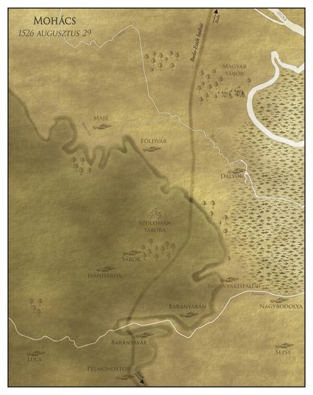 A mohácsi csata helyszíne (Készítette: Horváth Zsolt)