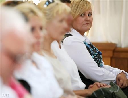 K. Ildikó a vádlottak padján (Fotó: Bugány János)