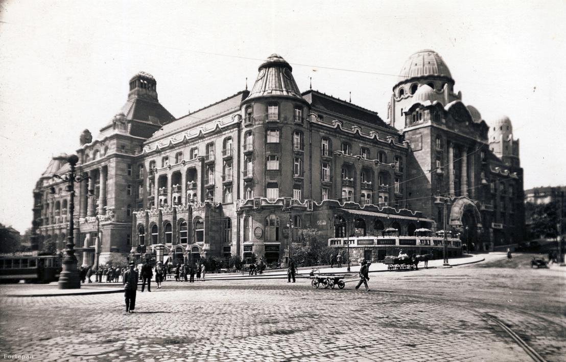 Gellért Szálló (1911-1918). A tervezők: Hegedűs Ármin, Sebestyén Artúr és Sterk Izidor. A kép 1937-ben készült