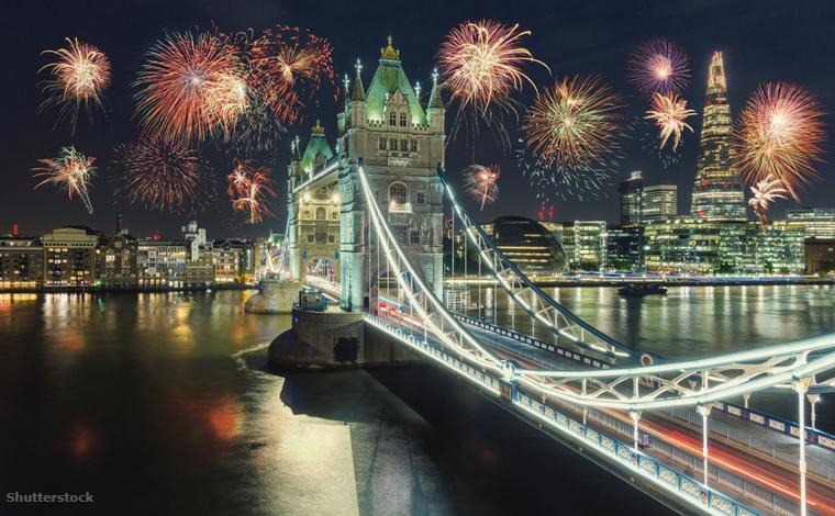 London, egy európai metropoliszhoz méltón, hatalmas újévi ünnepségeket rendez