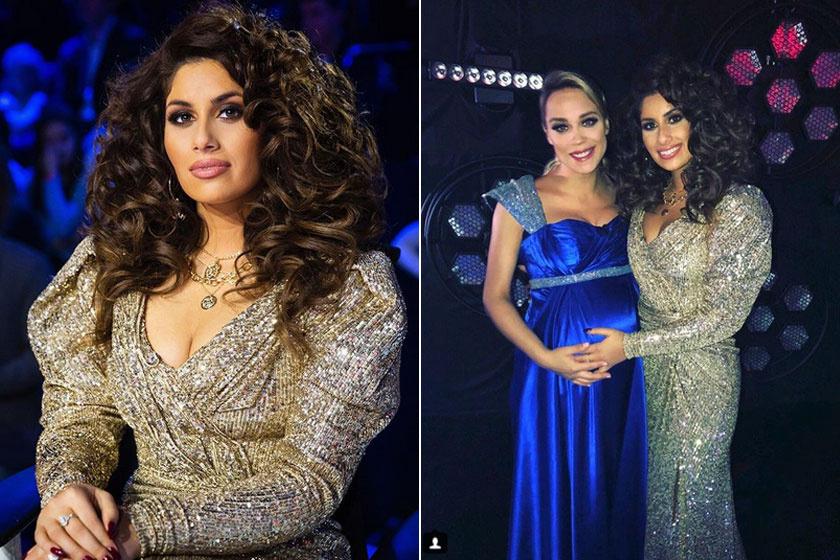 A 2018-as X-Faktor döntőjében Kiss Ramóna és Radics Gigi is mesés estélyit viseltek - a tehetségkutató női mentora csak úgy ragyogott az arany kreációban.