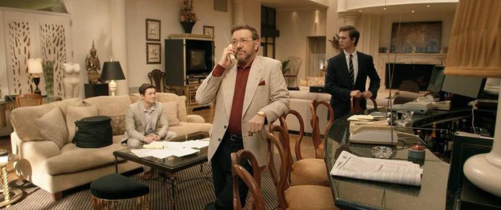 Taron Egerton, Kevin Spacey és Ansel Elgort a Milliárdos fiúk klubja című filmben