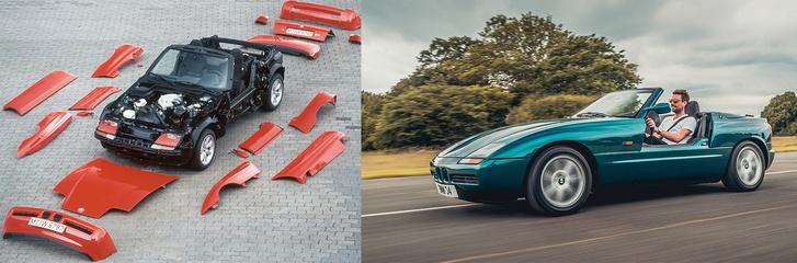 Eltüntetett ajtókkal akár körmöt is lehet reszelni az aszfalton menet közben. 83 ezer márkás árából két Volvo 440 Turbo, vagy egy 911 Carrera is kijött volna