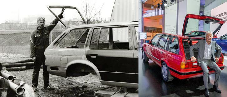 A bal oldali képen Max megoldása, a jobb oldalon pedig a BMW megvalósítása látható. Az ősz hajú úr természetesen Max, aki a sörösrekesz-átadóban ül. Így nevezték a bajorok a lámpák közötti rést