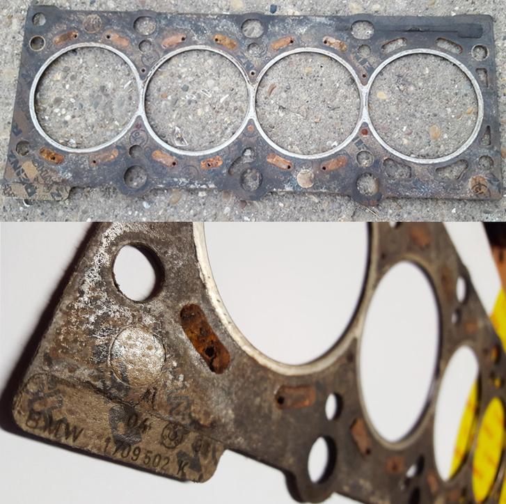 Az eredeti, nem fém hengerfej-tömítés hibamentesen bírta a tortúrát. Ha tudom, hogy ilyen jó állapotban van, talán meg sem bontom a motort