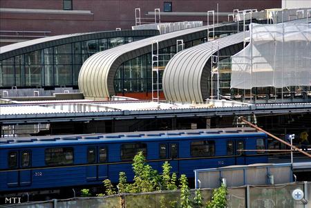 A metró próbajárat a kőbánya-kispesti végállomásnál, amelyet szombaton átadnak (a fotók augusztus 25-én készültek)