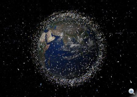 A Föld körül keringő űreszközök (forrás: ESA)