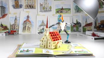 Bűbájos popup könyv Székelyudvarhely nevezetes épületeiről
