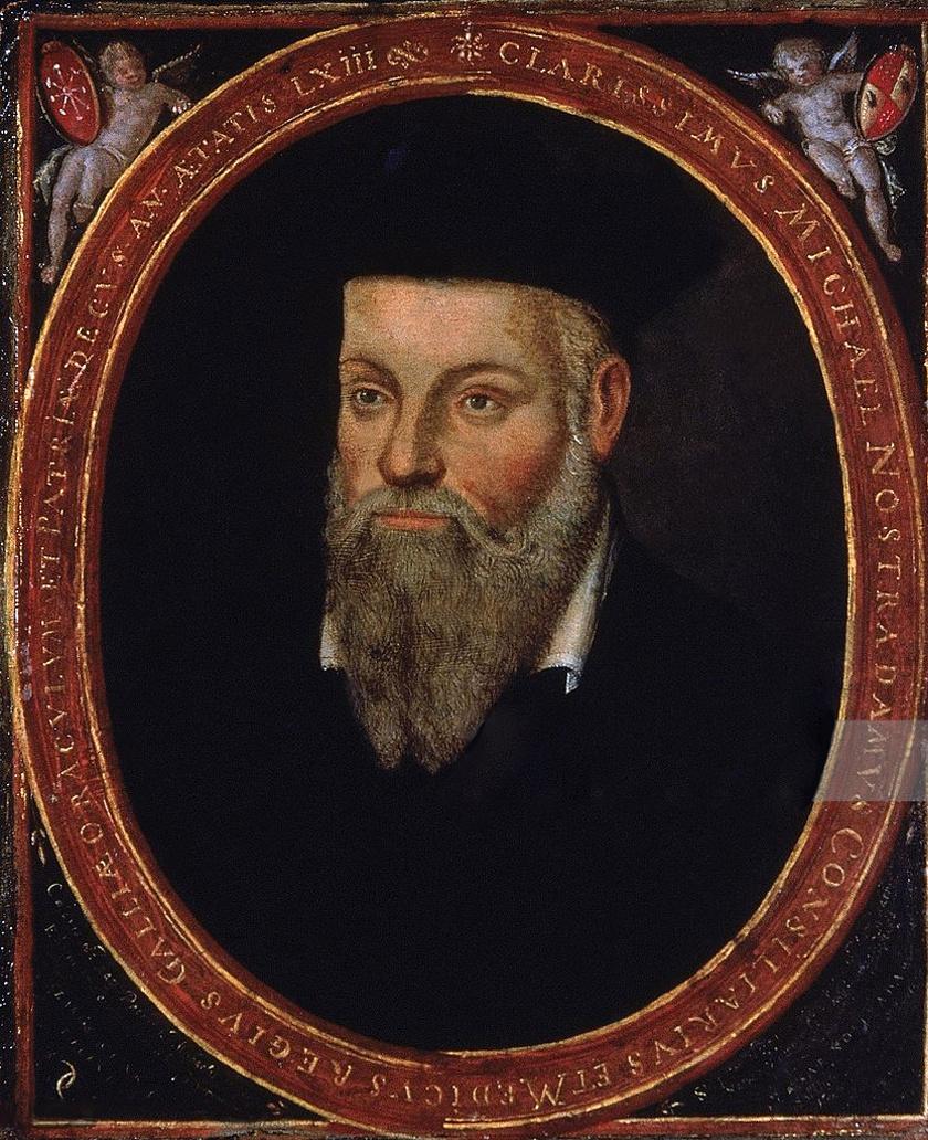 Nostradamus portréja, melyet fia, César festett.