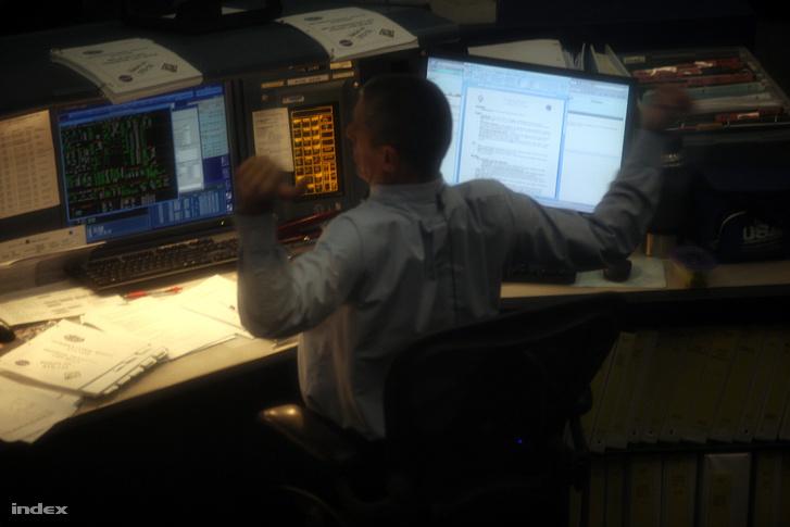 A NASA houstoni irányítóközpontjában